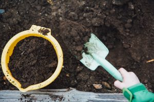 Compost with Spade & Bucket